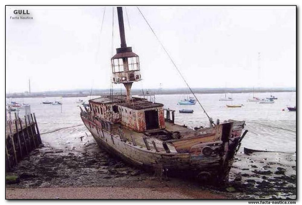 The GULL lightship was built ca. 1860. Now is beached beside the rive Thames at Grays.
