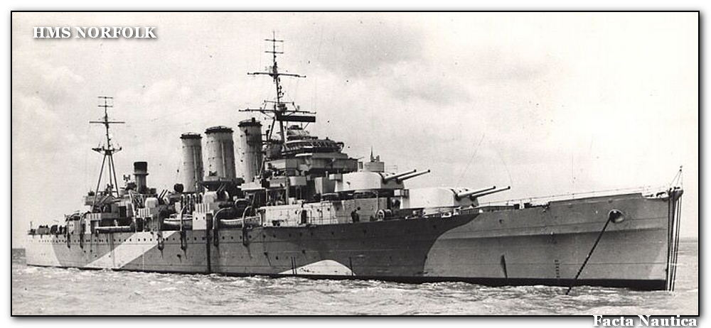 British heavy cruiser HMS NORFOLK
