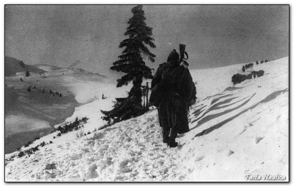 Serbian troops in Albanian mountains - October 1915