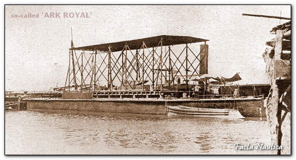 So--called ARK ROYAL of Mesopotamia. Seaplane tender.