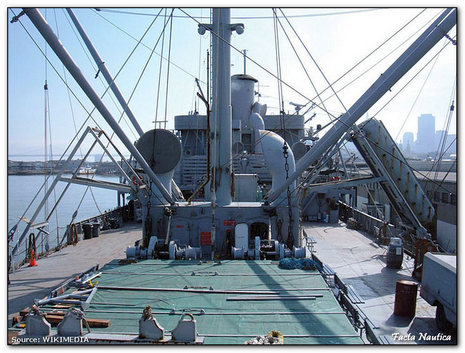 Main deck of  Liberty ship
