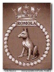 Herb HMS ROMOLA. Badge of HMS ROMOLA.